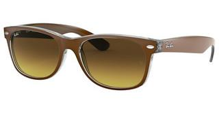 Ray-Ban RB2132 614585 BROWN GRADIENT DARK BROWNTOP BRUSHED BROWN ON TRANSP
