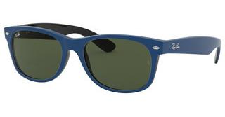 Ray-Ban RB2132 646331 GREENTOP RUBBER BLUE ON SHINY BLACK