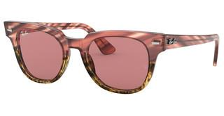 Ray-Ban RB2168 1253U0 VIOLET PHOTO MIRROR GOLDPINK GRADIENT BEIGE STRIPED