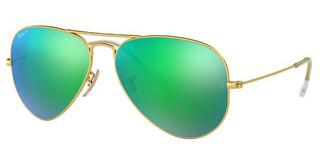 Ray-Ban RB3025 112/P9 GREEN MIRROR POLARMATTE GOLD