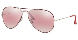 Ray-Ban RB3025 9155AI PURPLE BI-MIRROR GREY-PHOTOSILVER ON TOP MATTE BORDEAUX