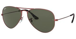 Ray-Ban RB3025 918831 GREENSAND TRASPARENT RED