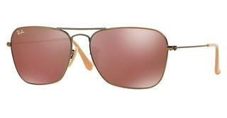Ray-Ban RB3136 167/2K RED MIRRORDEMIGLOS BRUSHED BRONZE