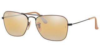Ray-Ban RB3136 9153AG YELLOW BI-MIRROR GREYBLACK ON TOP MATTE BEIGE