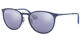 Ray-Ban RB3539 90221U BLUE LIGHT FLASH GREYRUBBER ELETRIC BLUE