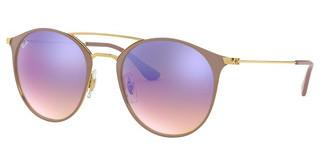 Ray-Ban RB3546 90118B BLUE FLASH GRADIENTBEIGE ON ARISTA