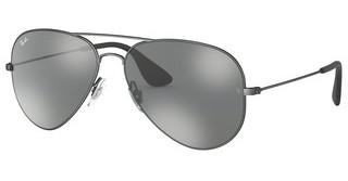 Ray-Ban RB3558 91396G GREY MIRROR SILVERMATTE ANTIQUE BLACK