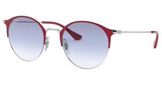 Ray-Ban RB3578 917619 CLEAR GRADIENT LIGHT BLUESILVER ON TOP BORDEAUX