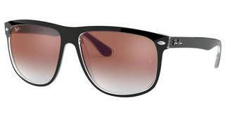 Ray-Ban RB4147 6039V0 CLEAR GRADIENT RED MIRROR REDTOP BLACK ON TRANSPARENT