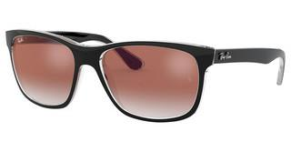 Ray-Ban RB4181 6039V0 CLEAR GRADIENT RED MIRROR REDTOP BLACK ON TRANSPARENT
