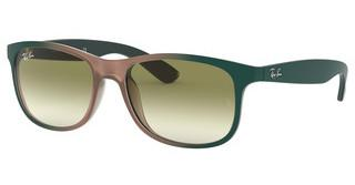 Ray-Ban RB4202 63688E GREEN GRADIENTGRAD GREEN ON LT BROWN RUBBER