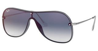 Ray-Ban RB4311N 6374X0 CLEAR GRADIENT BLUE MIRROR REDBLUE ON TOP GREY