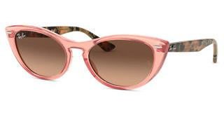 Ray-Ban RB4314N 1282A5 PINK GRADIENT BROWNTRANSPARENT PINK