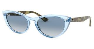 Ray-Ban RB4314N 12833F CLEAR GRADIENT BLUETRANSPARENT LIGHT BLUE