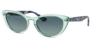 Ray-Ban RB4314N 12853M BLUE GRADIENT GREYTRANSPARENT GREEN