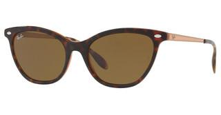 Ray-Ban RB4360 123373 DARK BROWNTOP HAVANA ON LIGHT BROWN