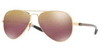 Ray-Ban RB8317CH 001/6B PURPLE MIR GOLD GRADIENT POLARSHINY GOLD