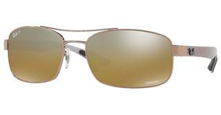 Ray-Ban RB8318CH 121/A2 BROWN MIR GREY GRADIENT POLARSHINY LIGHT BROWN