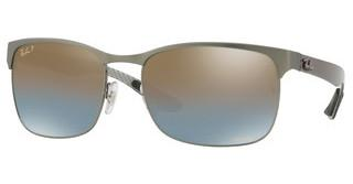 Ray-Ban RB8319CH 9075J0 BLUE MIR GOLD GRADIENT POLARGUNMETAL TOP ON MATTE GUNMETAL