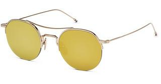 Thom Browne TB-903 A-T Dark Brown - Gold Mirror- AR12K Gold