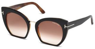Tom Ford FT0553 05U bordeaux verspiegeltschwarz