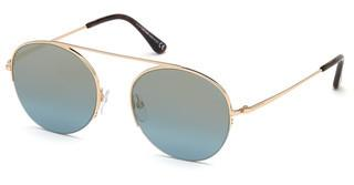 Tom Ford FT0668 28X blau verspiegeltrosé