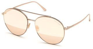 Tom Ford FT0757 28Z verspiegeltrosé-gold glanz