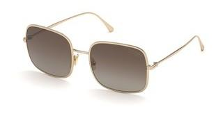 Tom Ford FT0865 28H braun polarisierendrosé-gold glanz