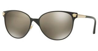 Versace VE2168 13665A LIGHT BROWN MIRROR DARK GOLDBLACK/PALE GOLD