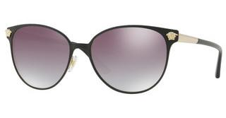 Versace VE2168 13776I CLEAR GRAD GREY MIRROR SILVERMATTE BLACK/PALE GOLD