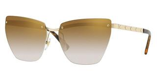 Versace VE2190 12526E GRAD LIGHT BROWN MIRROR GOLDPALE GOLD
