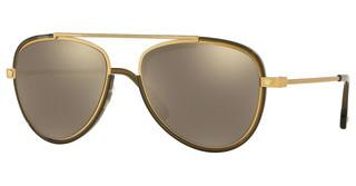 Versace VE2193 14285A LIGHT BROWN MIRROR GOLDTRIBUTE GOLD/TRANSP DARK GREEN