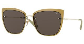 Vogue VO4158S 848/73 DARK BROWNTOP PALE GOLD/OPAL GREEN