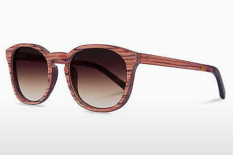Sonnenbrille Kerbholz Alfons Rosewood