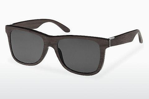 Sonnenbrille Wood Fellas Prinzregenten (10755 black oak/grey)