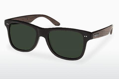 Sonnenbrille Wood Fellas Lehel (10757 rosewood/black/green)