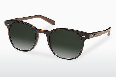 Sonnenbrille Wood Fellas Schwabing (10759 walnut/havana/green)