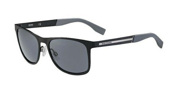 Boss Orange Herren Sonnenbrille » BO 0325/S«, schwarz, 003/IR - schwarz/grau