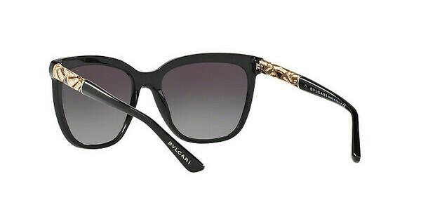 BVLGARI Bvlgari Damen Sonnenbrille » BV8173B«, schwarz, 501/8G - schwarz/grau