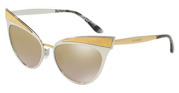 Dolce & Gabbana   DG2178 13136E LIGHT BROWN MIRROR GOLDSILVER
