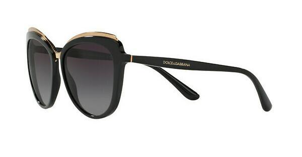 DOLCE & GABBANA Dolce & Gabbana Damen Sonnenbrille » DG4332«, schwarz, 501/8G - schwarz/grau