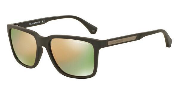 Emporio Armani Herren Sonnenbrille » EA4047«, schwarz, 535431 - schwarz/grün