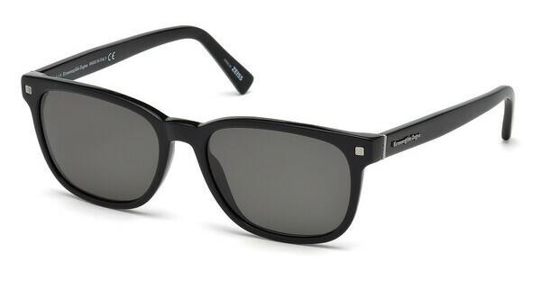 Ermenegildo Zegna Herren Sonnenbrille » EZ0075«, schwarz, 01D - schwarz/grau