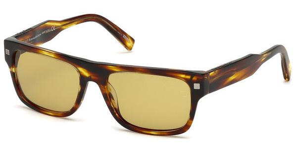 Ermenegildo Zegna Herren Sonnenbrille » EZ0088«, braun, 47F - braun/braun