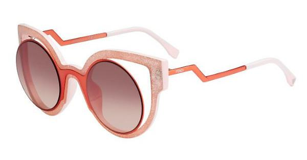 FENDI Fendi Damen Sonnenbrille » FF 0137/S«, orange, NUG/4C - orange/rot