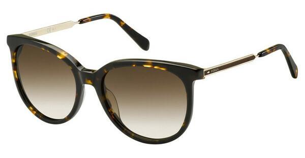 Fossil Damen Sonnenbrille » FOS 2079/S«, braun, IWF/HA - braun/braun