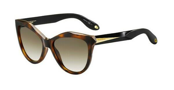 GIVENCHY Givenchy Damen Sonnenbrille » GV 7031/S«, schwarz, ANW/E4 - schwarz/braun