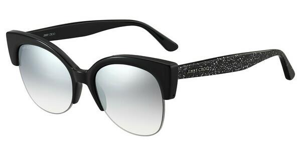 JIMMY CHOO Jimmy Choo Damen Sonnenbrille » CAIT/S«, schwarz, NS8/IC - schwarz/ silber