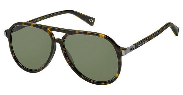 Marc Jacobs Herren Sonnenbrille Marc 174/S QT 086, Braun (Dark Havana/Green), 58