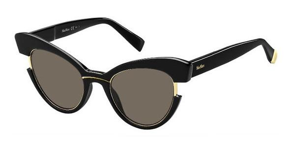Max Mara Damen Sonnenbrille » MM INGRID«, schwarz, 7C5/KU - schwarz/blau